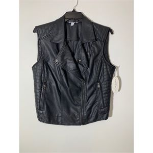 NWT Faux leather plus size vest 0X